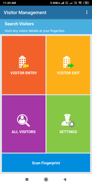 Visitor management and gatekeeper application for housing society